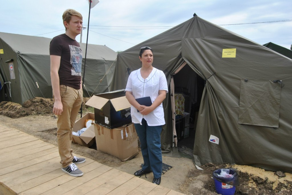 4 июля была отправлена партия гуманитарной помощи в лагерь беженцев